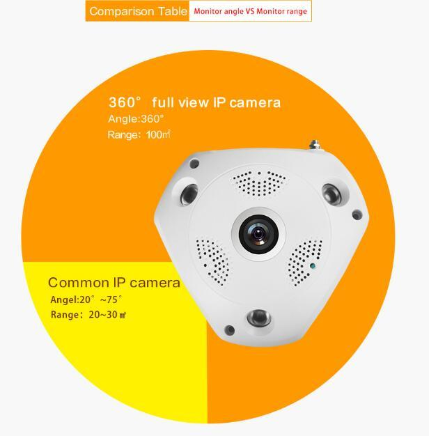 IP VR Camera WiFi Network Fisheye Camera 360 Panoramic Wi-Fi Cameras 960P Surveillance CCTV Cam support VR BOX 2CU0513