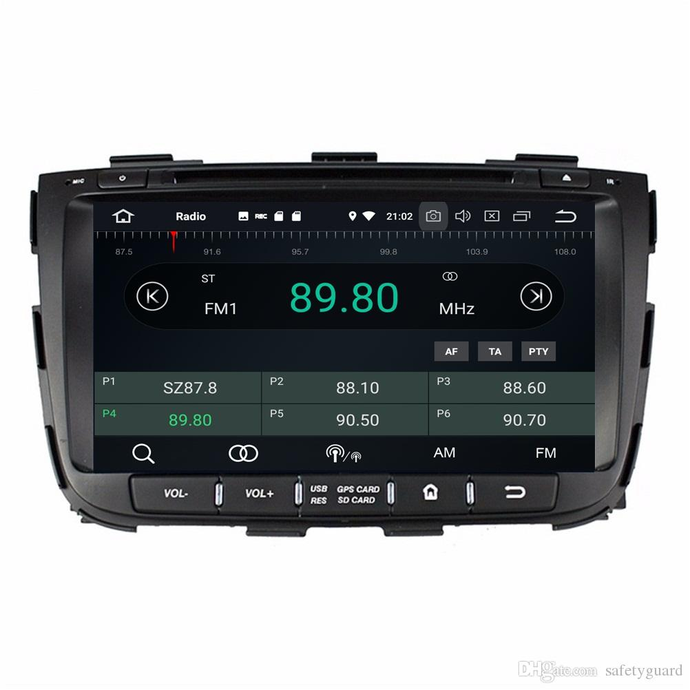 "4GB RAM 64GB ROM Octa Core 8"" Android 8.0 Car dvd Player for Kia Sorento 2013 2014 With Radio GPS Bluetooth WIFI USB DVR OBD Mirror-link"