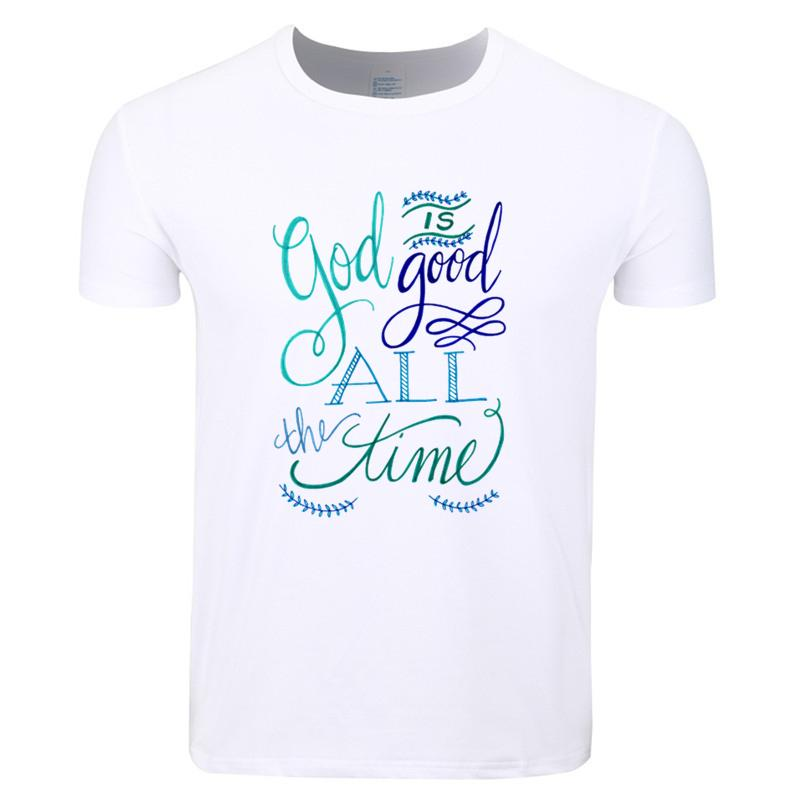 93dc0a4cd7 Asian Size Men Women Print God Is Good All The Time Christian Fashion T  Shirt O Neck Short Sleeves Summer Casual Tshirt Hcp4161 Funny Tees Funny T  Shirts ...