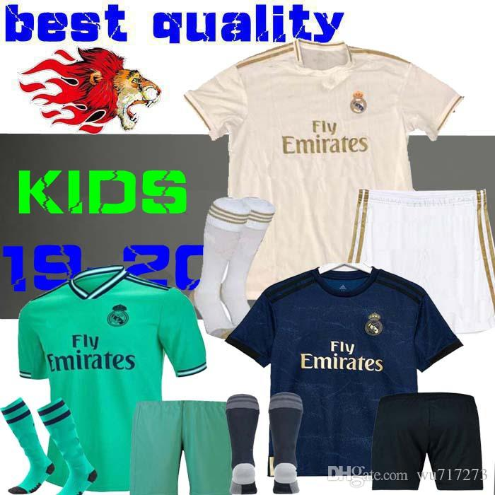 95554c44e 2019 19 20 Real Madrid Kids Soccer Jersey Kits Boys Child Third 2019 2020  HOME Asensio BALE RAMOS Football Shirts AWAY ISCO MARIANO BENZEMA EA From  Wu717273 ...