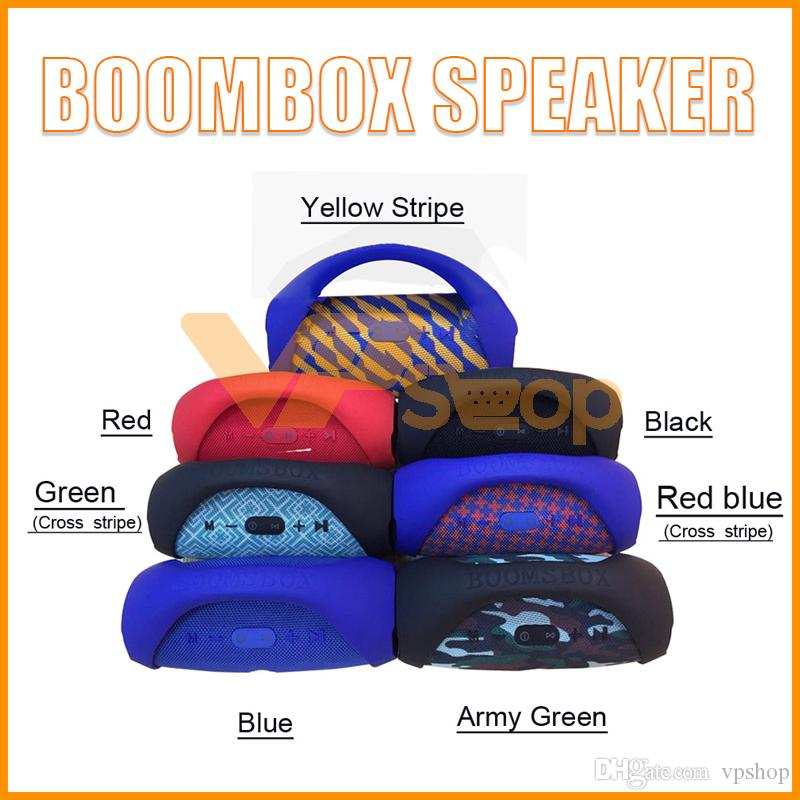 Altoparlanti Mini Boom Box Altoparlanti Bluetooth senza fili per altoparlanti all'aperto HIFI Bass Audio Subwoofer portatili Boombox VS JBL Sound Bar Box