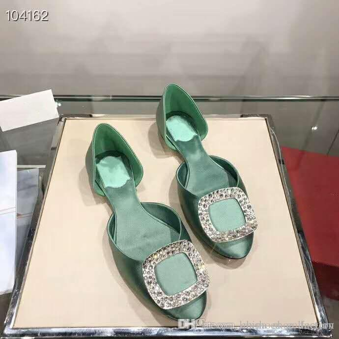 92a09fcfb3 Spring/Summer 2019 Collection,Diamond Silk Classic Flat Sandals,Italian  Leather Outsoles Women Shoes ,With Full Packaging Nude Wedges Bridal Shoes  From ...