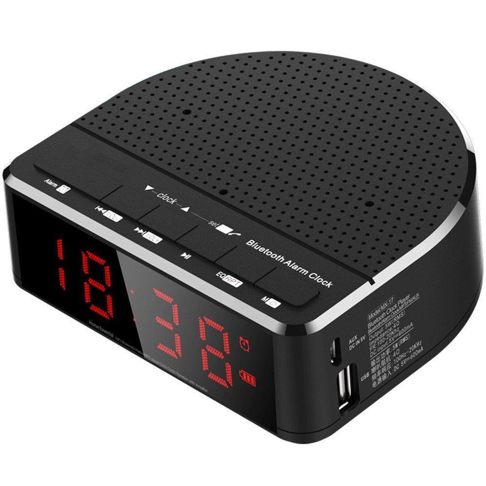 Maison Smart Radio-réveil Intelligent Connectée Noir