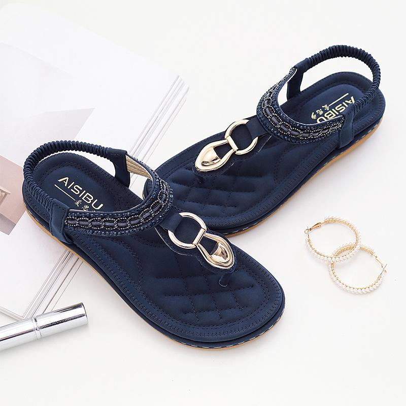 324f174d3bf2 Women S Sandals Rhinestone Wedges Gladiator Beach Sandals Flip Flops Summer  Fashion Student Shoes Women Cheap Shoes For Women Buy Shoes Online From  Misix