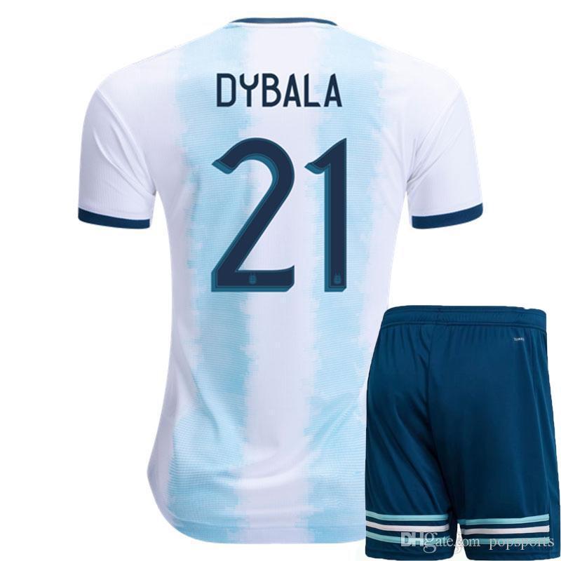 85657e710 2019 Argentina 2019 Copa América Home Kit Soccer Set Jersey 10 MESSI  Football Shirt AGUERO Top Shorts Pants Dybala Maillot De Foot HIGUAIN  ICARDI From ...