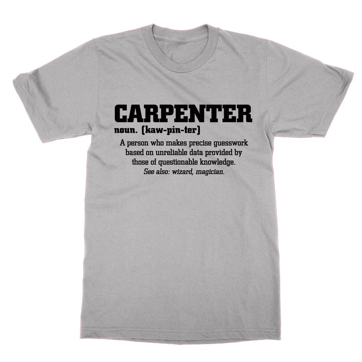 Definition of a Carpenter t-shirt funny nerd tee carpentry do present gift  suit hat pink t-shirt