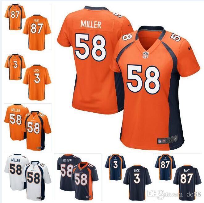 sale retailer 9de7e 7579b Broncos Noah Fant Drew Lock Jersey Dalton Risner Von Miller Phillip Lindsay  John Elway Jake Butt custom american football jerseys color rush