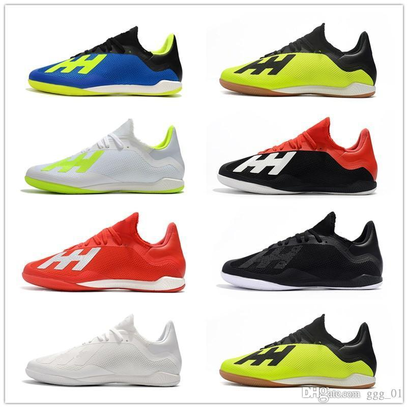 sale retailer 9c499 fd7e6 Free Shipping 2018 Nemeziz Messi X Tango 18.3 IC Soccer Cleats World Cup  Mens Soccer Shoes Speedmesh Indoor Football Boots Cleats
