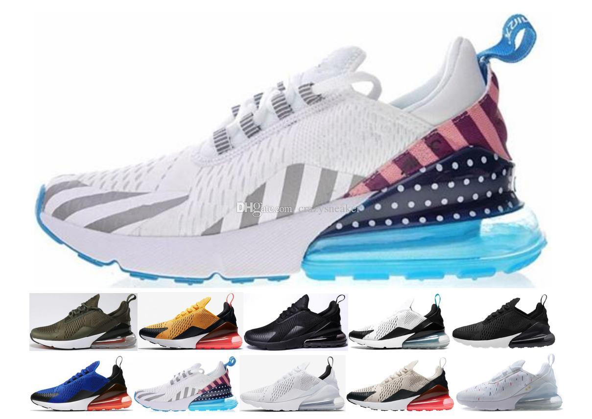 quality design 81e99 ba09b Compre Nike Air Max 270 Vapormax Airmax 27c Shoe Zapatos Deportivos Barato  270S Negro Blanco Rojo Azul Cojín Zapatillas Correr Mujeres Hombres Plus  Off Airs ...