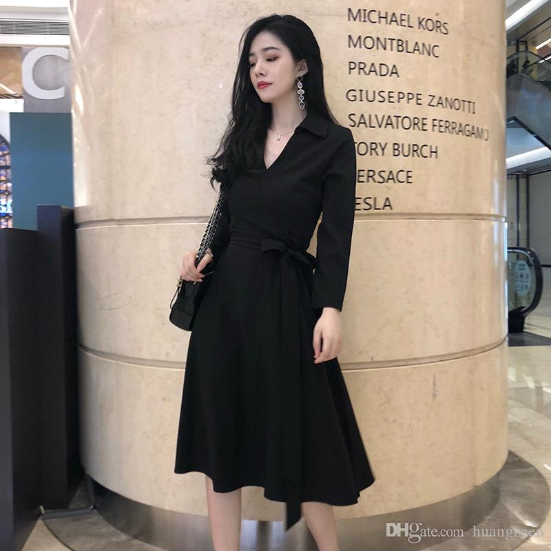 14859dc9778 2019 Autumn Women S Dress 2018 New Long Sleeve