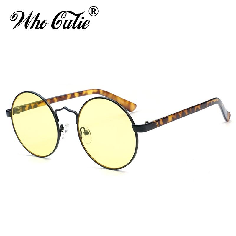 6fbbdd6f5fe Wholesale Fashion Round Sunglasses Women Brand Designer 2019 Leopard Circle  Frame Female Sun Glasses Yellow Lens Shades OM840 Wholesale Sunglasses Cool  ...