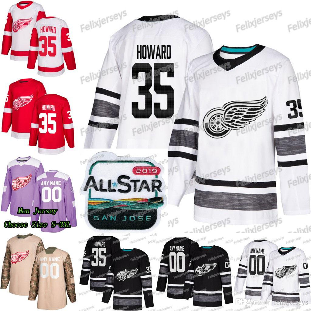 online retailer 3b353 9a5c5 35 Jimmy Howard 2019 All Star Detroit Red Wings Gustav Nyquist Andreas  Athanasiou Tyler Bertuzzi Frans Nielsen Larkin Anthony Mantha Jersey