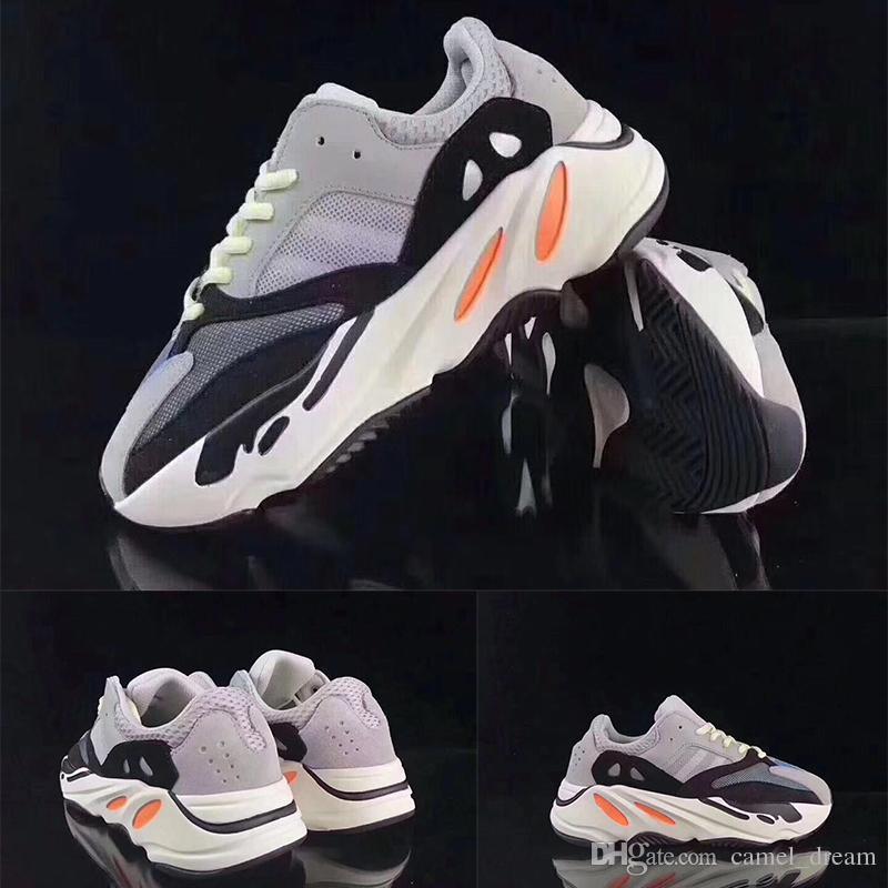0c5bd7b527b387 Compre Adidas Yeezy Boot 700 Crianças Sapatos Runner Onda 700 Kanye West  Tênis De Corrida Da Menina Do Menino Sapatilha Instrutor 700 Esporte Sapato  ...