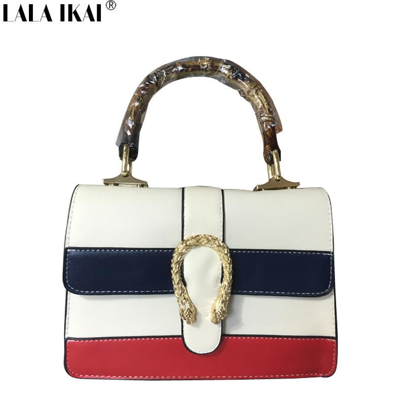New Trendy Women Bamboo Bag Fashion Leather Handbag Vintage Ladies  Patchwork Messenger Bags High Quality BWC1106 4.9 Duffel Bags Ladies Purse  From Nlmora 49266d22d400f