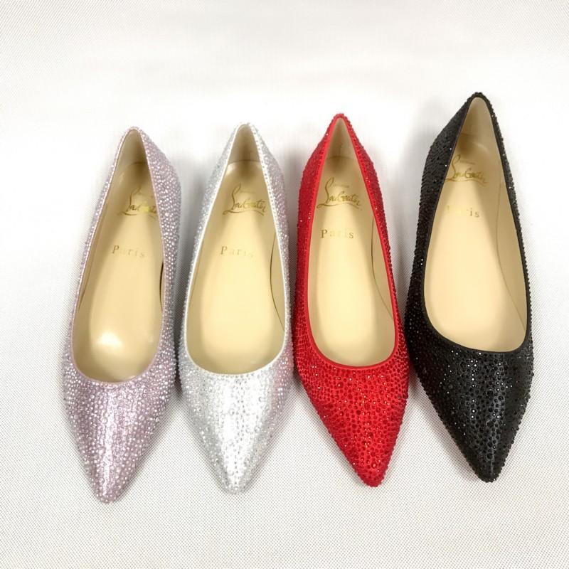 e64e0433e4e Red Bottom Women Pointed Toe High Heels Studded Strappy Slingback ...