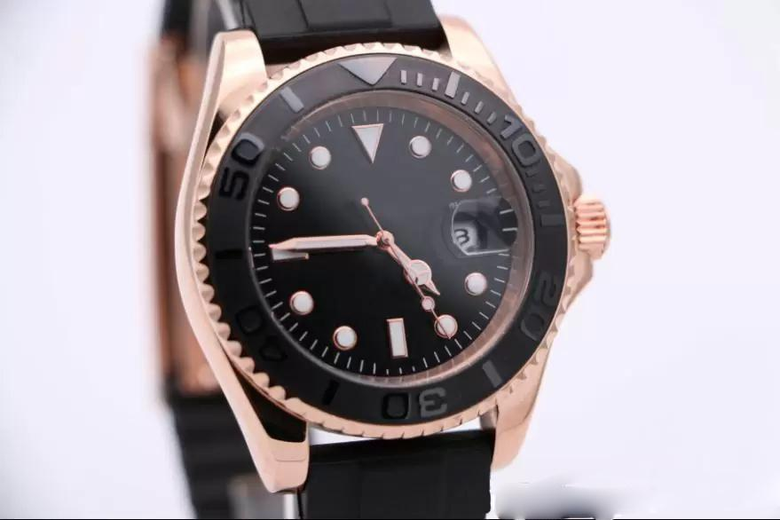 Hot seller 40MM Classic Nautical Wristwatch For Seafarer Automatic Movement Sport Mens Watches Rose Gold Case With Magnified Calendar Window