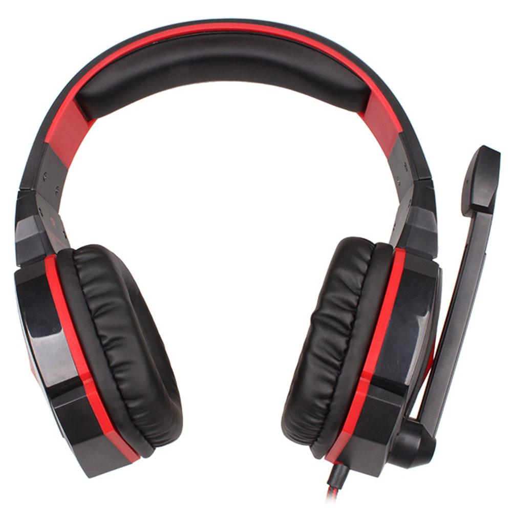 EACH G4000 Stereo Gaming Headset with Mic Volume Control Red