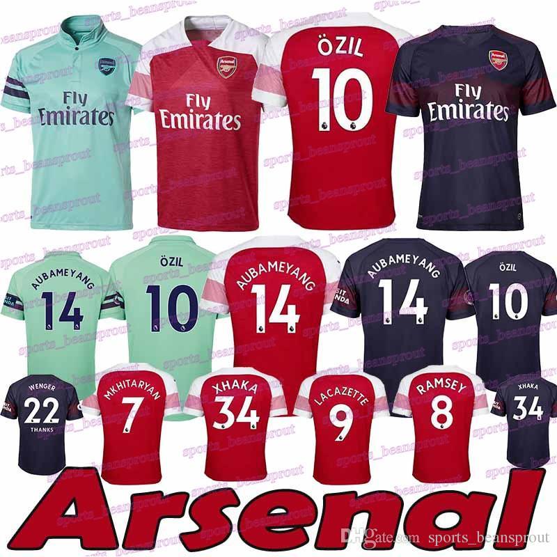 b865a4078d1 New 2019 Soccer Jersey 2018 AUBAMEYANG OZIL Football Jerseys 18 19 ...