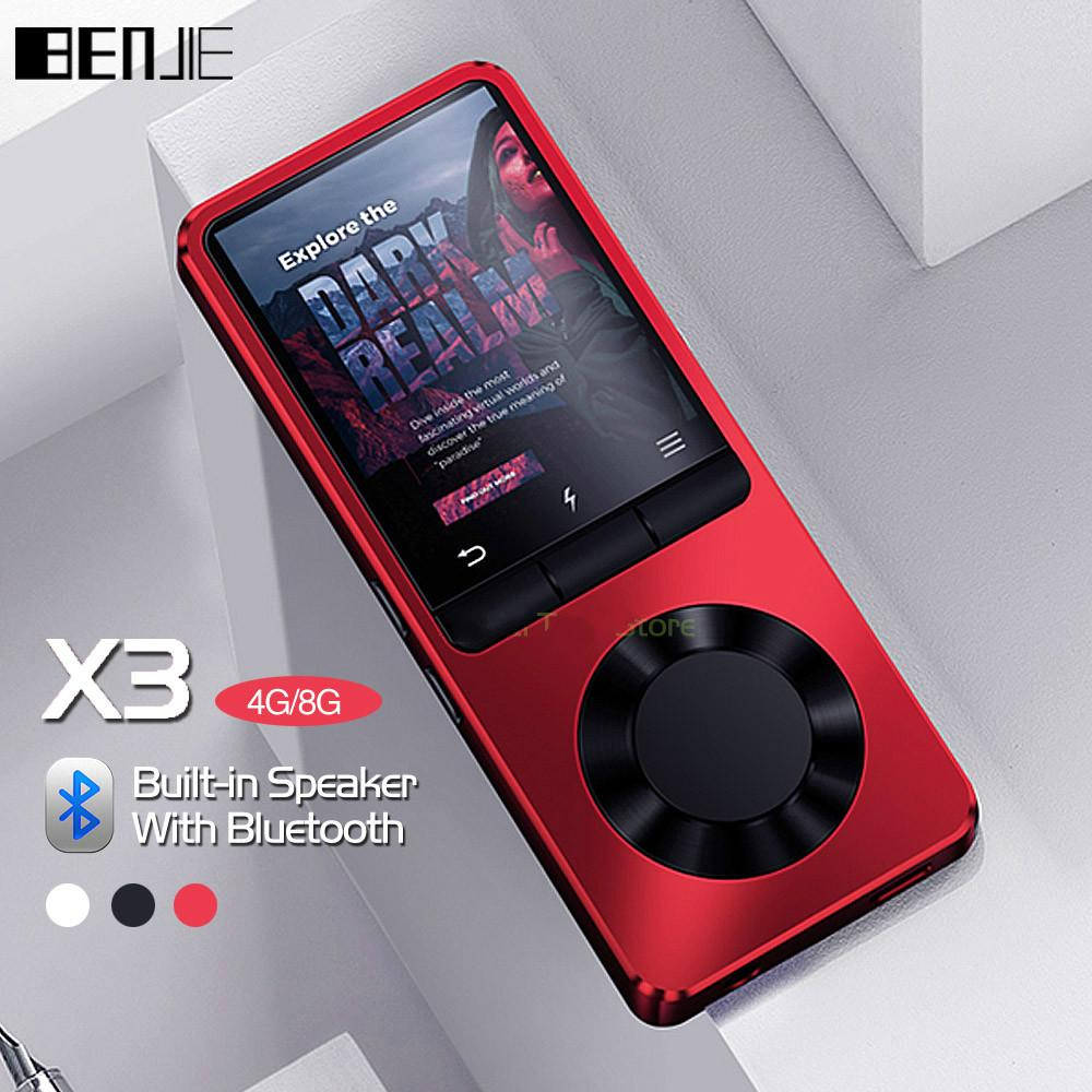 MP3 Player Bluetooth Portable Music Player with Loud Speaker Support FM  Radio Recording Alarm Clock expandable Up to 128GB