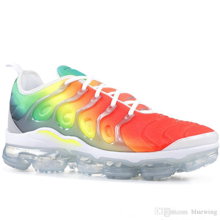 official photos 324b8 78f85 Acquista Nike Vapormax Plus TN Uomo Scarpe Da Corsa USA Grape Red Violet  Blue Tropical Sunset Triple Nero Bianco Scarpe Da Ginnastica Da Donna  Designer ...