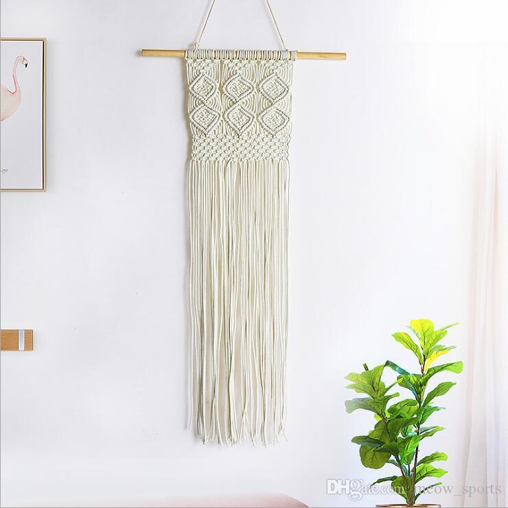 Bohemian style cotton rope tapestry European-style hand-woven living room wall decoration indoor and outdoor wall hanging