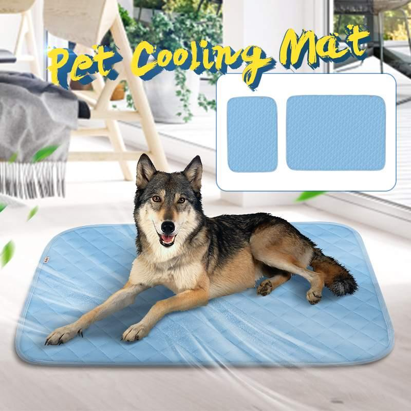 Pet Cooling Mat Pad Dogs Pet Comfort Bed Cooler Mat Pad Indoor Summer Heat Relief Cushion Cooling Seat Mattress SML