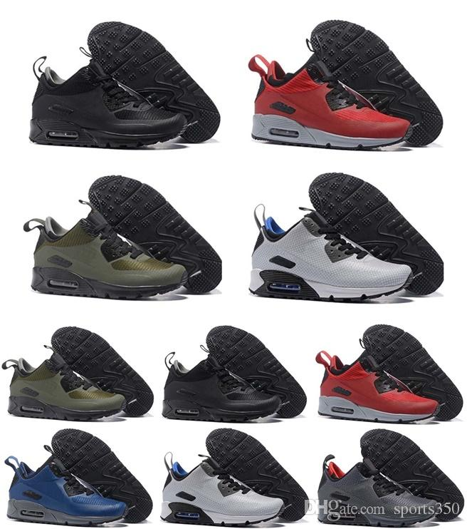 90 Mens Women Running Shoes Triple Black White Wheat Core Oreo Sport Blue  Grey Red Men Cheap Sports Designer Sneakers Size 40-45 Online with   89.6 Pair on ... df0a0ebb6