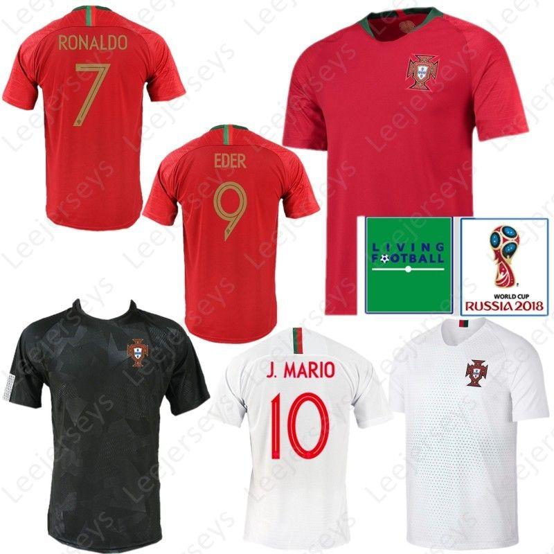 new styles 73495 6fc24 2018 2019 New Soccer Jersey 2018 World Cup 7 RONALDO 8 MOUTINHO 9 ANDRE  SILVA 10 J.MARIO 20 QUARESMA 3 PEPE Football Shirt Kits