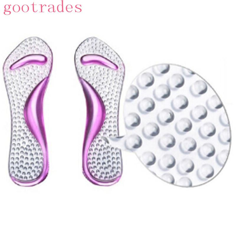 Gel Pads Arch&Metatarsal Support Massage Insoles For High-Heels Sandal Shoes
