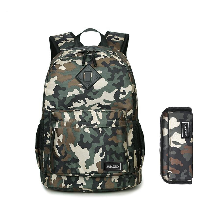 885e1c13c0ad Set Kids Army Green Camouflage Backpack For Boy Student Pen Bag Pencil Case  Boys School Bags Bookbag Backpacks For Children Y18120601 Heavy Duty  Backpacks ...