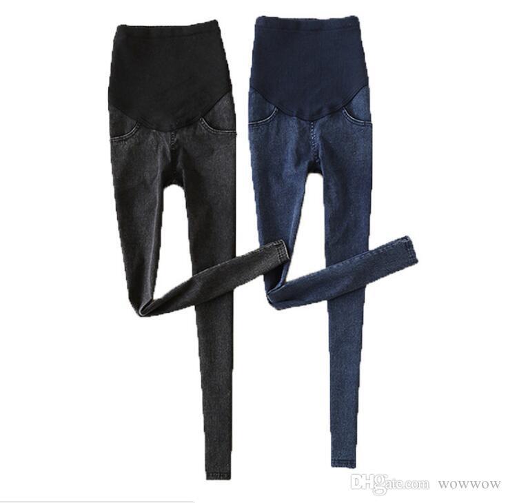 e7514a44ff00 Acquista Jeans Strappati Da Donna Pantaloni Premaman Pantaloni Da  Infermiera Prop Belly Legging Gravidanza Grossesse Pantalon Denim Donna  Incinta Plus A ...