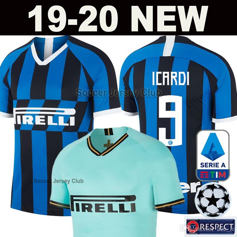 0eeeb60fe 2019 19 20 Inter Soccer Jersey Milan LAUTARO ICARDI PERISIC NAINGGOLAN  Football Shirt 2019 2020 Home Away Green POLITANO Maillot Thailand Quality  From ...
