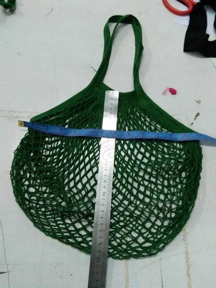 Reutilizáveis compras Grocery Bag Tamanho Grande Shopper Tote malha Net tecido Sacos de algodão portáteis Bolsas de Compras Saco T2I5762