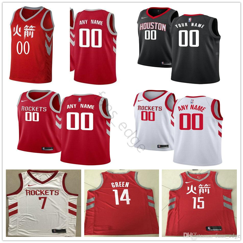 d2fe24bfedb Printed Houston 3 Chris Paul 10 Eric Gordon 13 James Harden 7 ...