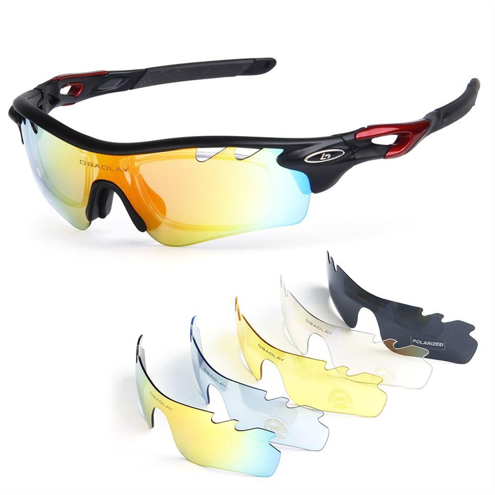 da7dd8932f OBAOLAY UV400 Cycling Sunglasses Bike Bicycle 4 Lens Goggles Sports ...