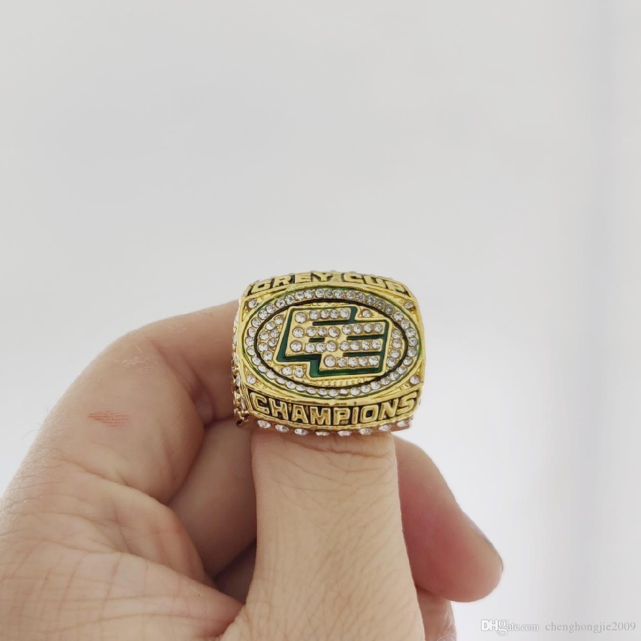 2019 Wholesale 2003 Edmonton Eskimos The 91st Grey Cup Champions Ring Give Gifts To Friends Canada From Chenghongjie2009 CAD 745