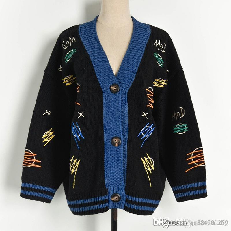 Hiver Pull Nouveau col V en cachemire jacquard Designer luxe Pull Fashion Cardigan chaud vente Pull femme Femme Pulls