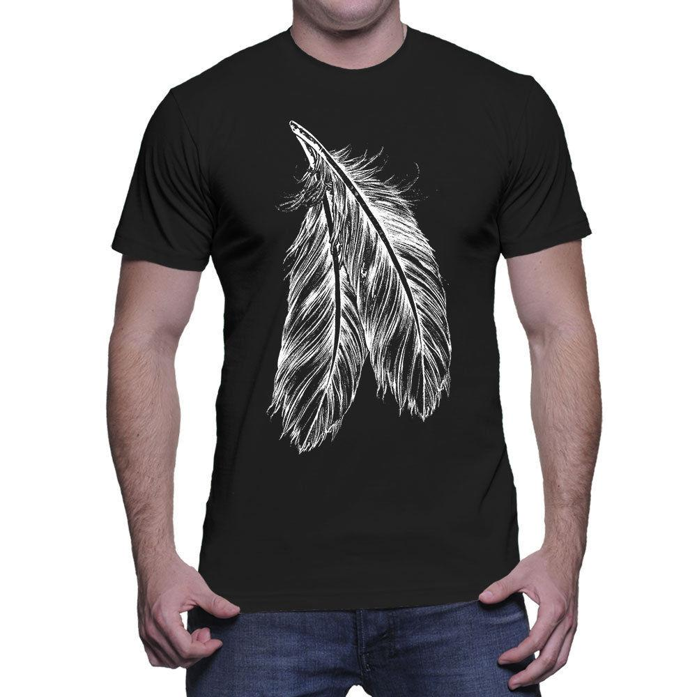046471c0 Feathers Tridal Indian Native American Mens T Shirt Cheap Wholesale Tees,100%  Cotton For Man,T Shirt Printing Crazy Tee Shirts Novelty T Shirt From ...