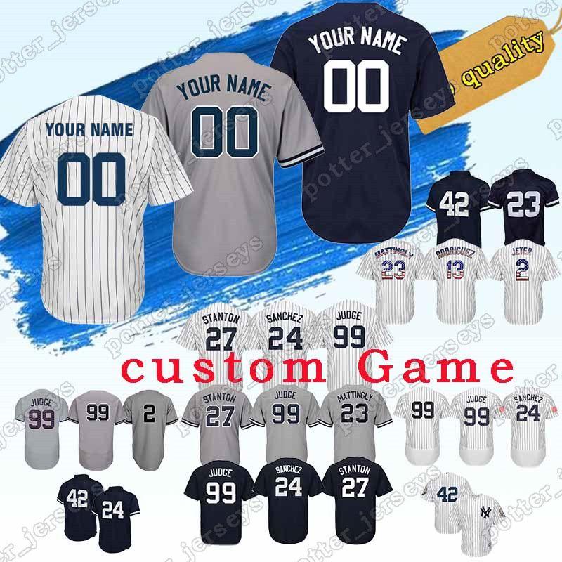 uk availability 4c017 768ad New York custom Yankees Baseball Jersey 11 Brett Gardner 28 Austin Romine  25 Gleyber Torres 45 Luke Voit 19 Masahiro Tanaka Jerseys