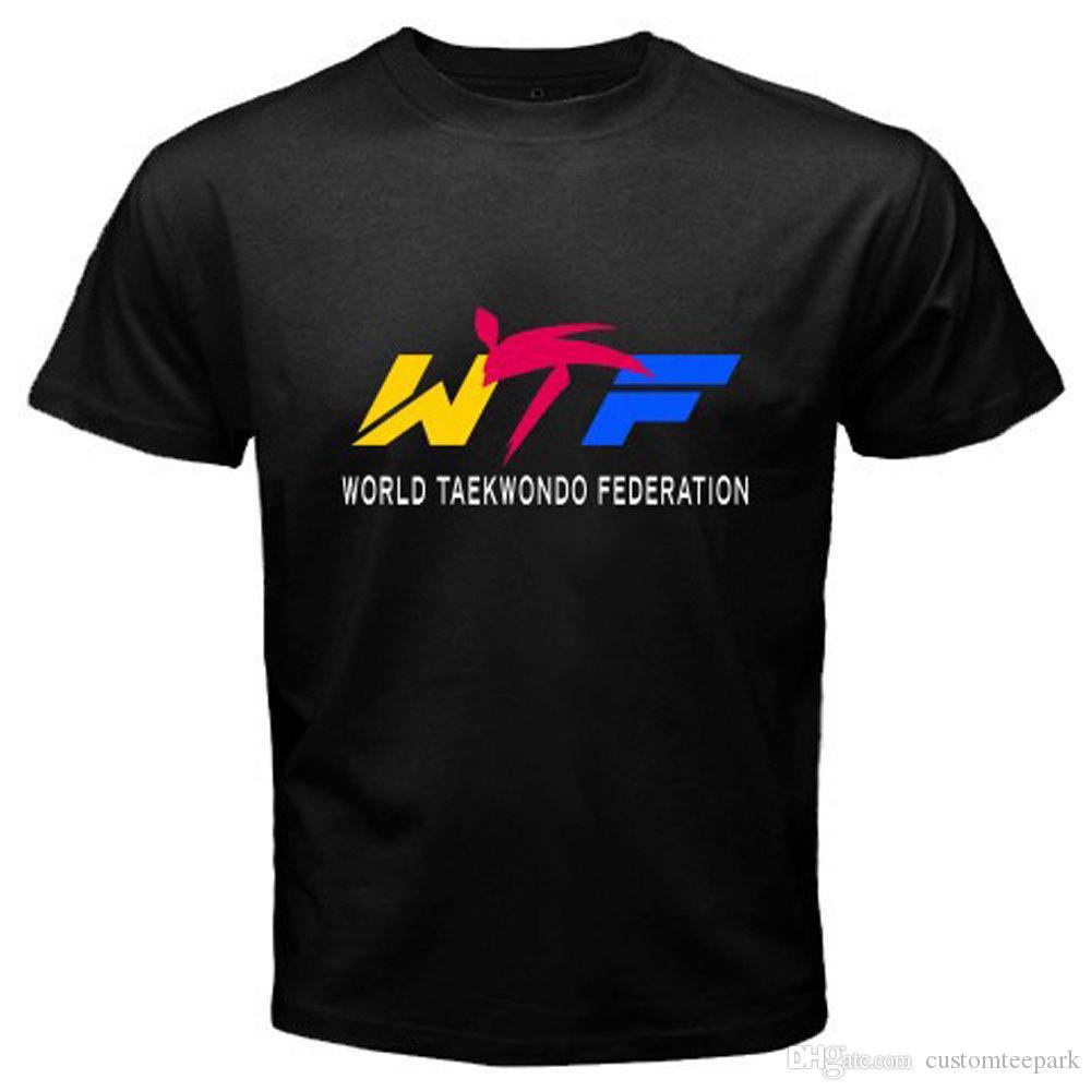 T-Shirt maglietta Taekwondo Calcio Bianca Nera Altri sport