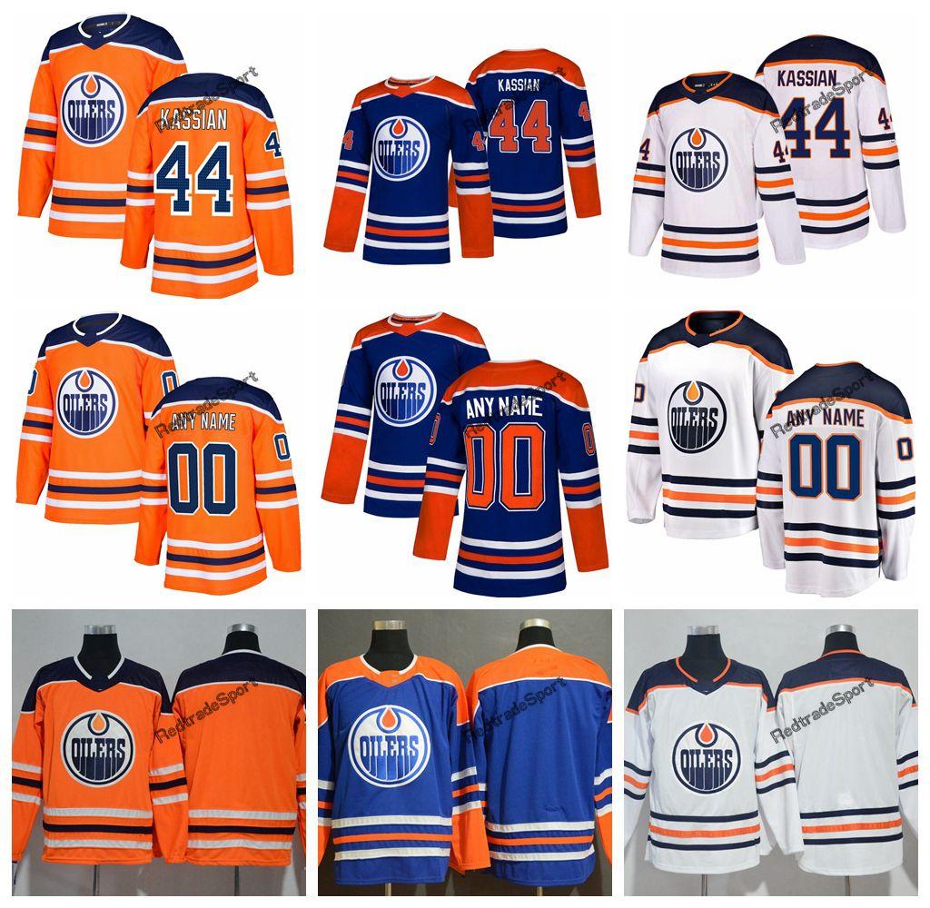 b2a93ee4d74 2019 2019 Customize Edmonton Oilers Zack Kassian Hockey Jerseys Mens New  Alternate Blue Orange 44 Zack Kassian Stitched Jerseys Shirts S XXXL From  ...
