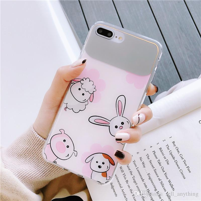 detailing 0b42d bda44 For Iphone Xs Mxs Phone Cases Cute Cartoon Zoo Sheep PC Hard Back Cell  Phone Case For Iphone 6 7 8 Plus Xr