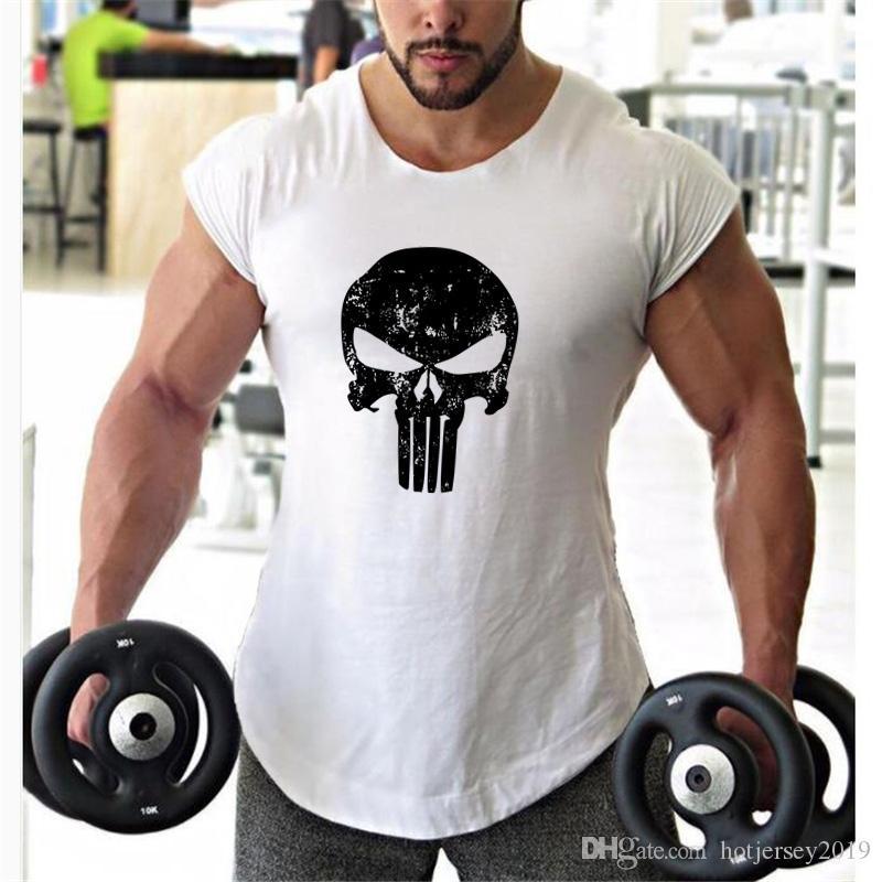 f14cb5d303a227 2019 Punisher Skull Bodybuilding Tank Tops Men Fitness Clothes 2018 Summer Shirt  Tee Shirt Homme Gyms Sleeveless Workout Vest  309324 From Hotjersey2019