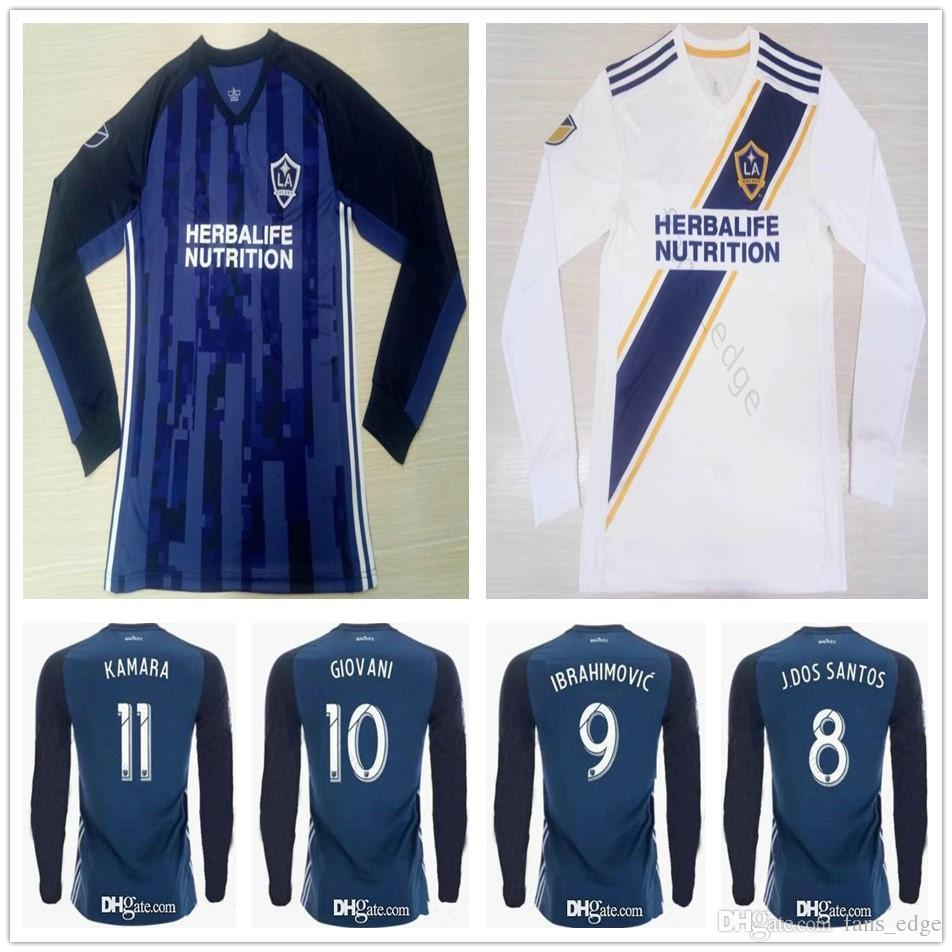 b23de965f 2019 Camiseta De Manga Larga De Los Angeles Galaxy   9 Zlantan Ibrahimovic  Camisetas De Fútbol 2020 GIOVANI COLE ALESSANDRINI KAMARA Camiseta De  Fútbol De ...