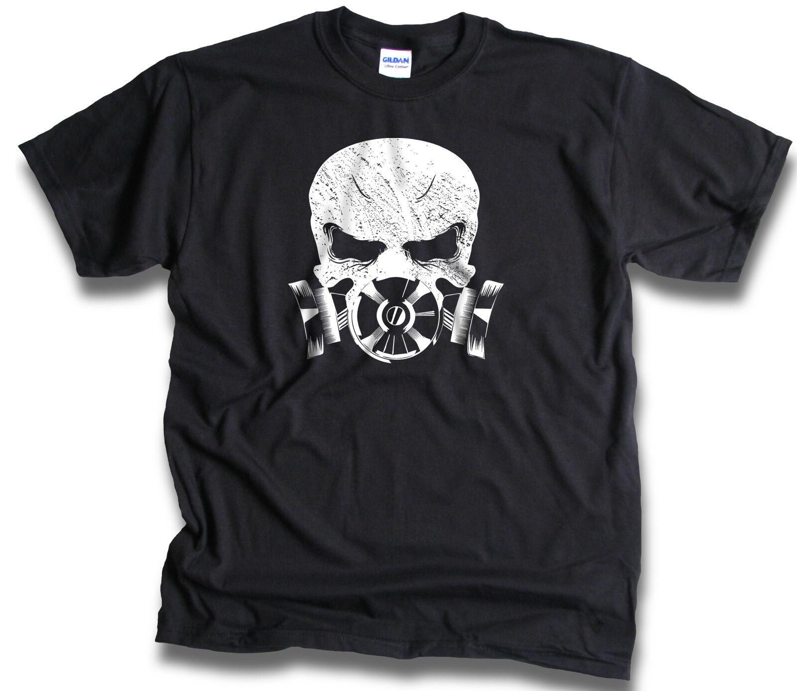 Tops & Tees Summer Fashion Men Cotton T Shirts Gas Mask Skull Man Round Neck Tops Black Size S-3xl Women Tshirt Back To Search Resultsmen's Clothing