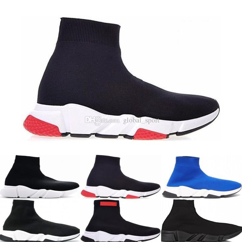 meilleur service 874fd 05965 Designer Chaussures Marque Pas Cher Original 2019 Femmes Hommes Chaussettes  Chaussures De Course Speed Trainer Sports Baskets Haut De Luxe Bottes ...
