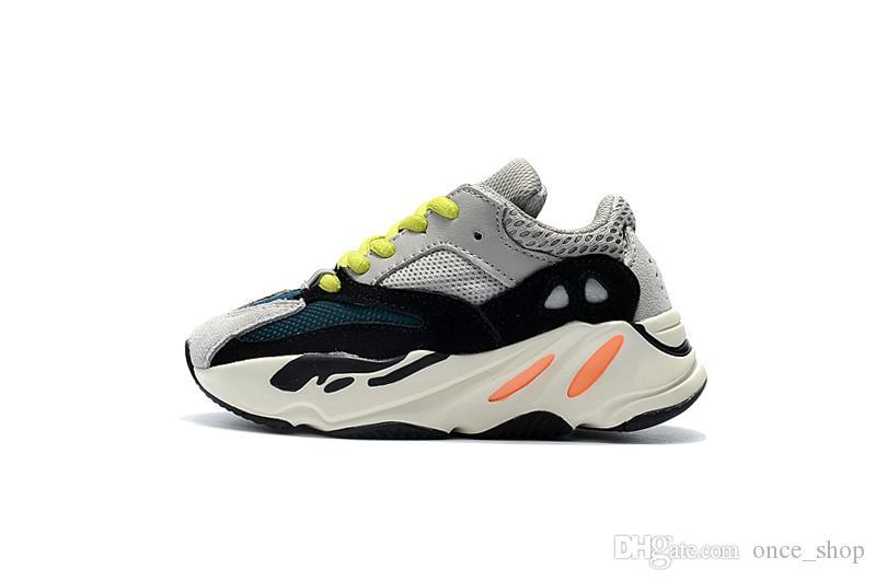 7011e55ead5e9 2019 Kanye West 700 Boost Kids Running Shoes Boys Girls Sneaker BOOST 700  Sports Shoes Children Best Toddler Running Shoes Childrens Designer Shoes  From ...