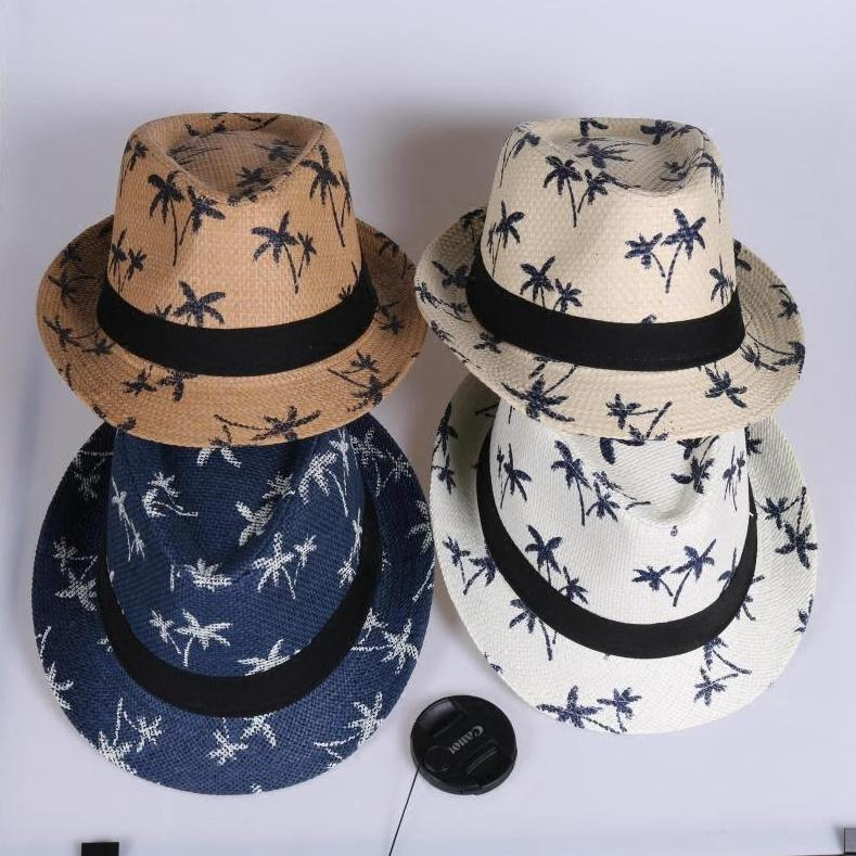 4edaf516 Fashion Parent-child Straw Hat Unisex Wide Brim Retro Sun Visor Hat ...