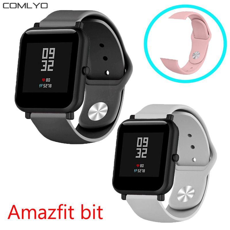 5719d51996ca NUEVA banda de silicona suave para Xiaomi Huami Amazfit Bip BIT correa  correa Reloj Goma para galaxia reloj 42mm / gear s4 Pulsera