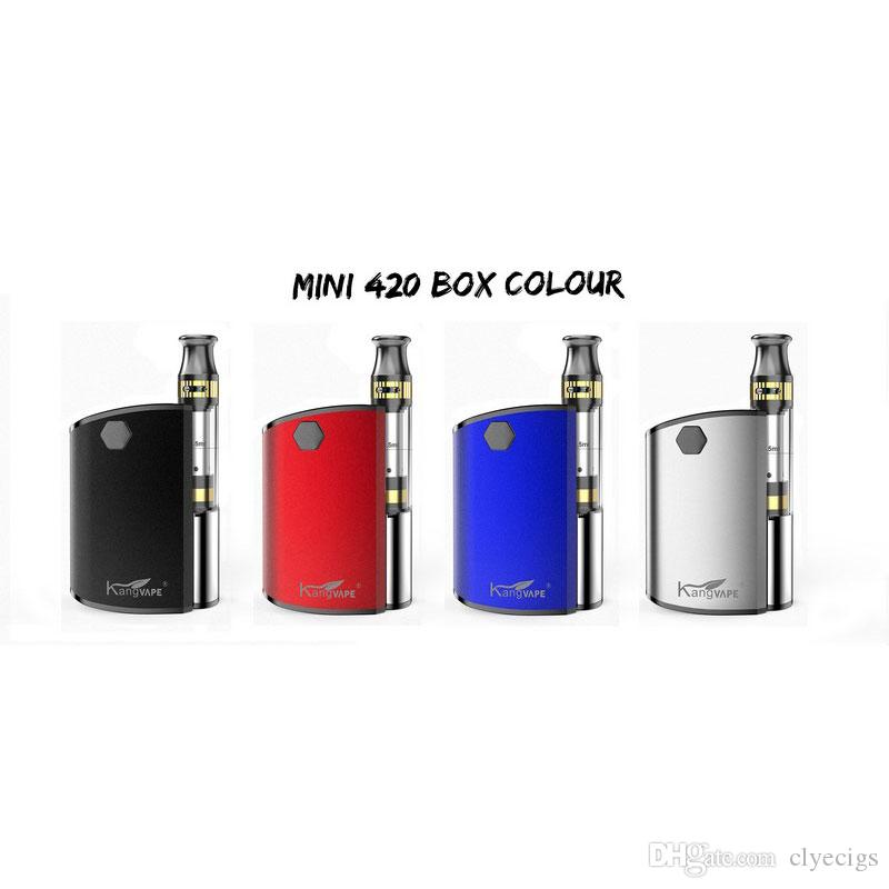 Kangvape Mini 420 Box Kit 400mAh VV Batterie TH-420 Mod 0.5ml 510 Vape dicke Ölpatronen Tank Portable Vaporizer Starter Kit